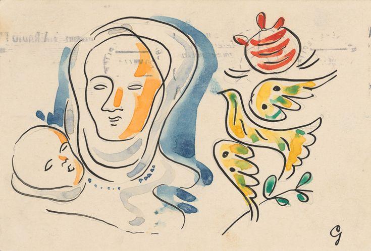 Mikuláš Galanda – Matka s dieťaťom a holubicou, 1936-1937