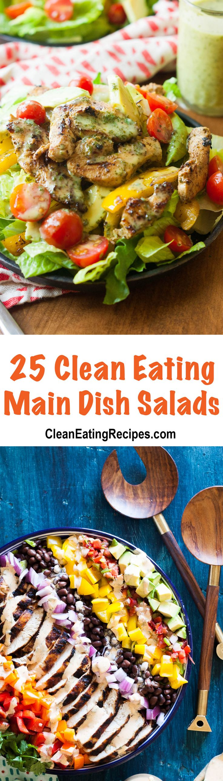 I eat a lot of salads.  Eating a lot of Clean Eating main dish salads is one of the tricks that helped me lose over 50 pounds. In order to lose weight eating large salads, you need to focus on Clean Eating salad recipes that are high in protein and don't include dressing that is …