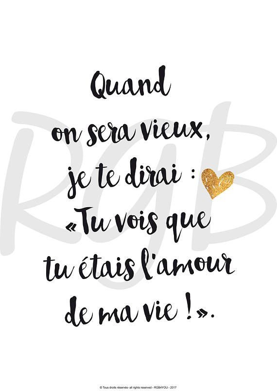 Life Quotes Declaration Damour Amour Affiche Citation