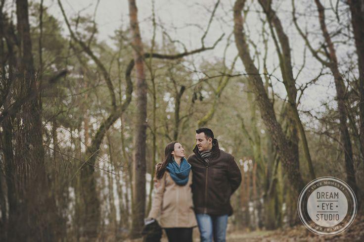 http://dreameyestudio.pl/  #dreameyestudio #poland #couple #forestsession #trees #nikon #pregnancy