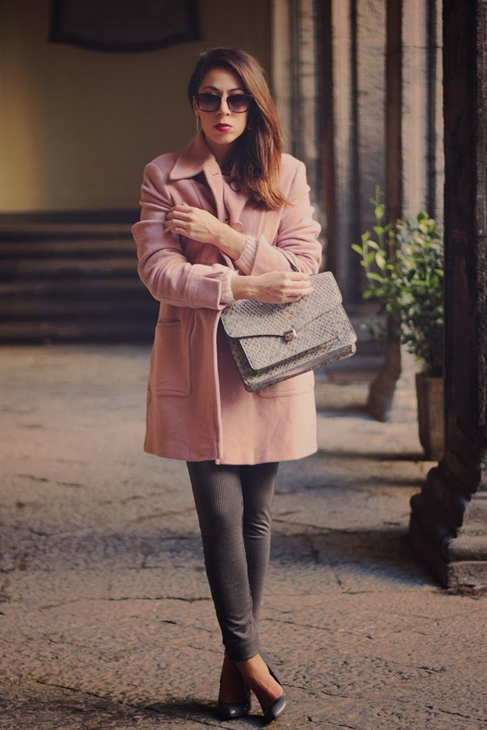 cappotto oversize rosa, outfit, come indossare