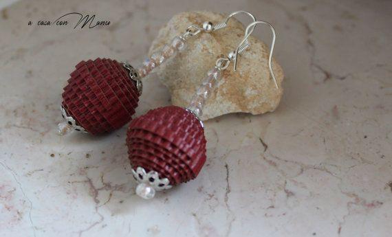 Orecchini leggeri con perle di carta Light by Acasaconmanu on Etsy