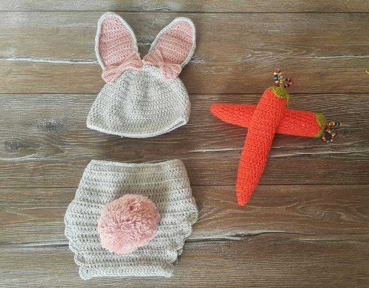 """El yapımı bebek kostümleri,  """"Tavşan Kostümü"""""""