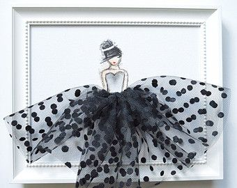 Nursery Decor, Black and White, Wall Art, Wall Decor (Princess in Black & White…