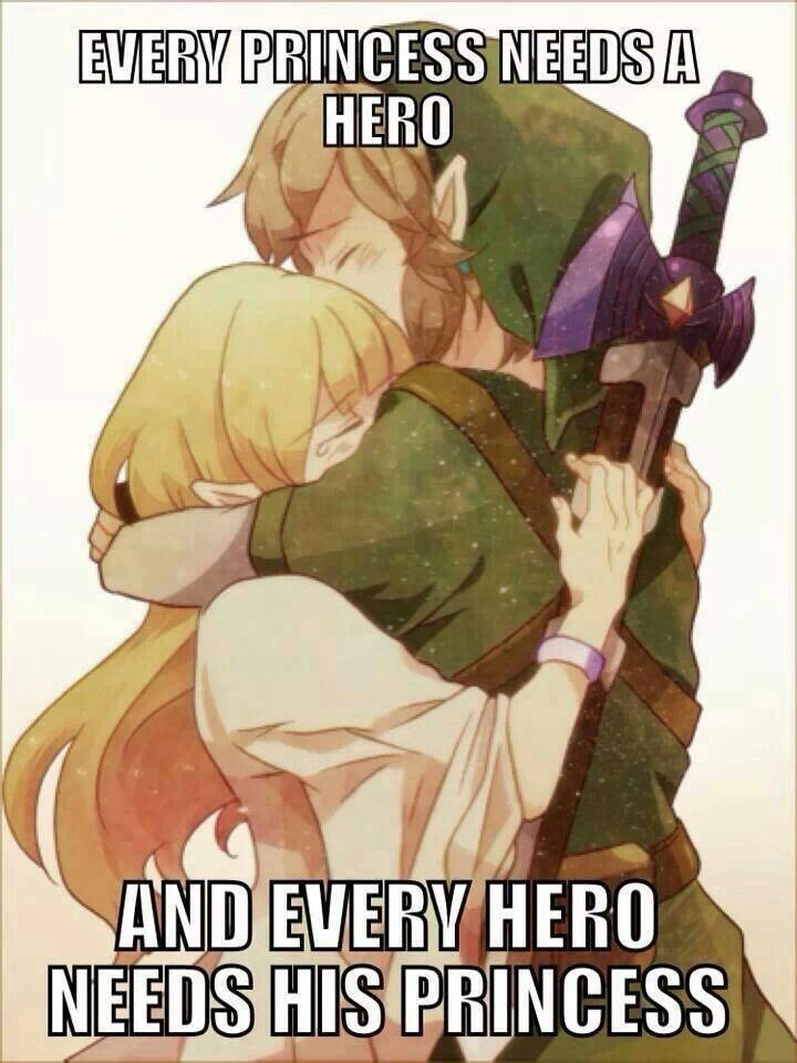 Link and Zelda. I honestly have to say this is one of the most romantic things I've ever seen!!