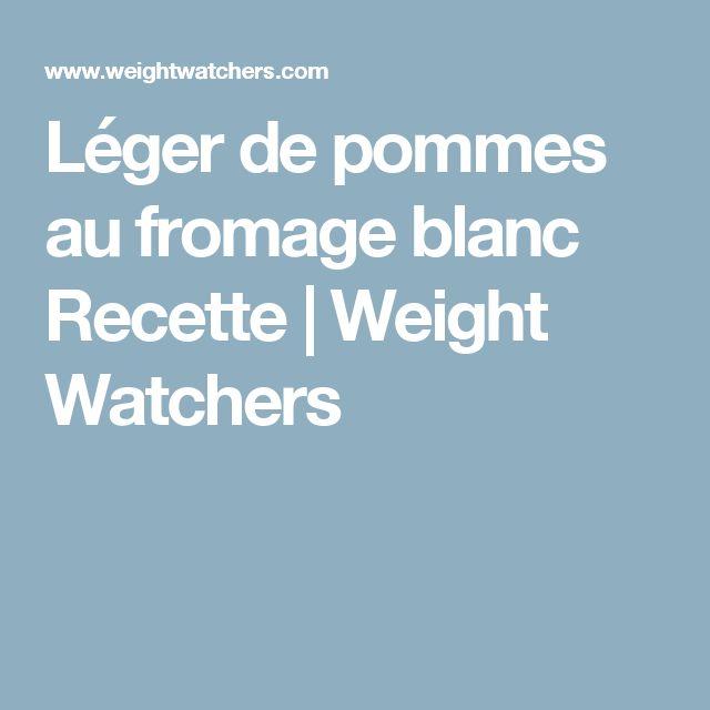 Léger de pommes au fromage blanc Recette | Weight Watchers