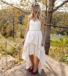 High Low Hem Wedding Dress Stella by Starlight from @etsy wedding seller The Peppermint Pretty