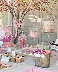 wedding shower: Shower Ideas, Sweet Tables, Birthday Parties, Bridal Shower, Parties Ideas, Gardens Parties, Desserts Tables, Pink Parties, Baby Shower