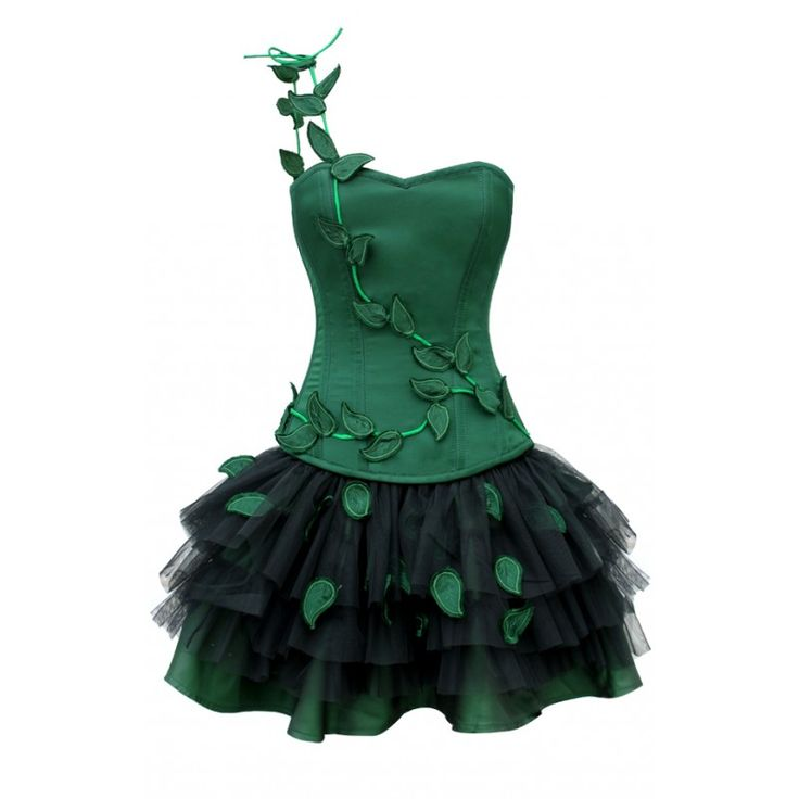 HW-1018 - Poison Ivy Halloween Outfit - http://www.corsets-uk.com/hw-1018-poison-ivy-halloween-outfit-made-to-order.html