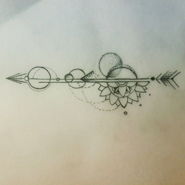 Super rough sketch of #Mandala #Arrow I did for the lovely Mary :) #auroratattoobali #customdesign #tattoodesign