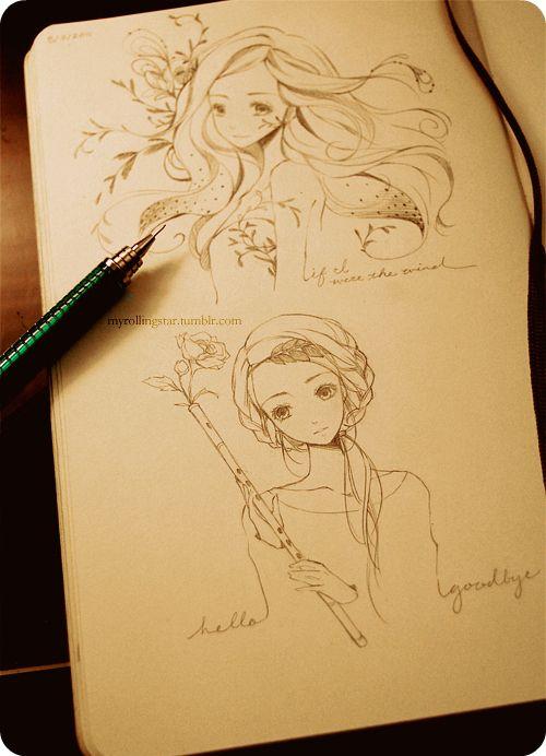 Anime drawings.