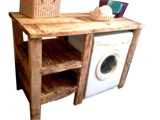 mobile arredamento per bagno. legno antico naturale. artigianale. su misura. design industriale.