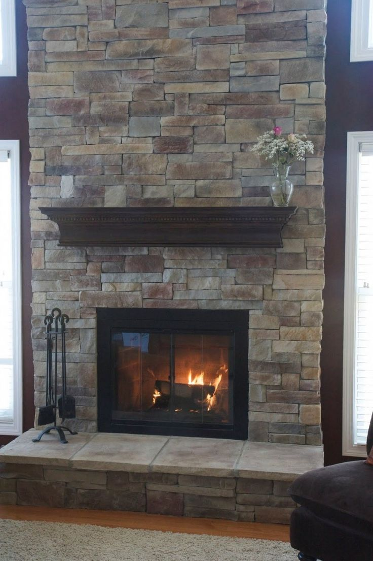 Ordinaire Interior:Appealing Brick Stone Fireplace Design Ideas With Natural Stone  Fireplace Mantel Shelves For Decor