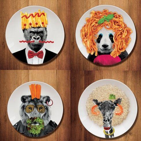 動物の顔を料理でお化粧?! 遊べるお皿【Wild Dining】