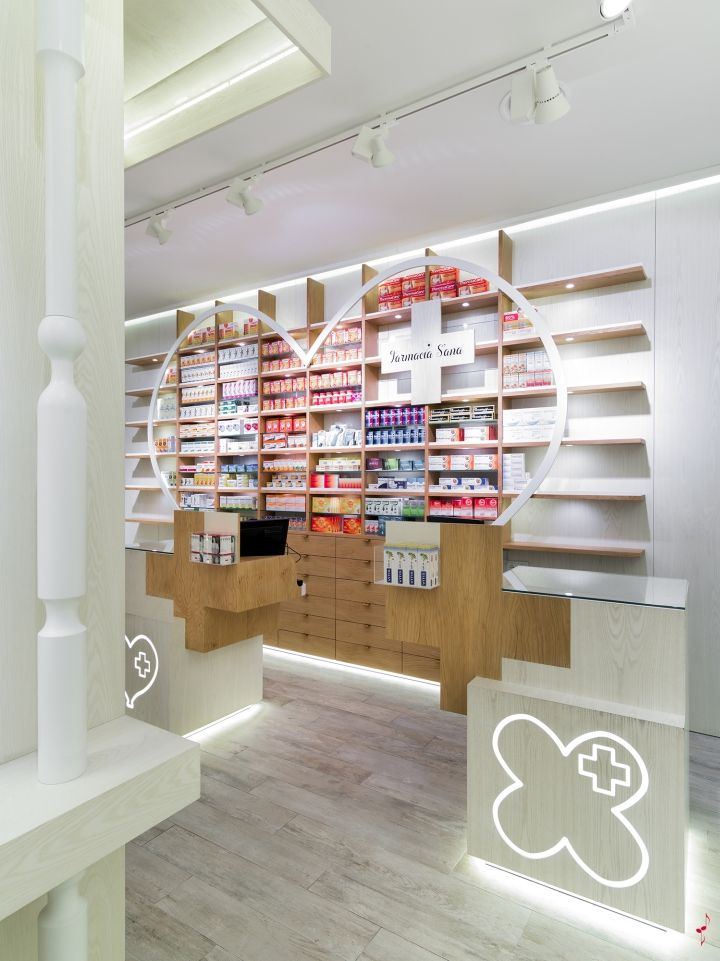 S´ana Pharmacy by Marketing Jazz, Madrid – Spain - The brand S´ana comes from Ana, the name of the owner of the pharmacy, and from the natural approach of the project ( sana means healthy). The project aims to transmit, as a main characteristic that makes this pharmacy different, the love and care with which Ana serves her customers.