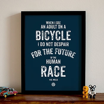 H.G. Wells on cyclists