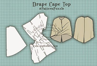 well-suited: Pattern Puzzle - Drape Cape Top