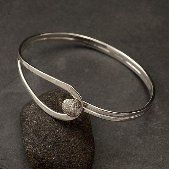 Modern Sterling Silver Bracelet Sterling Silver Latch by Artulia, $96.00