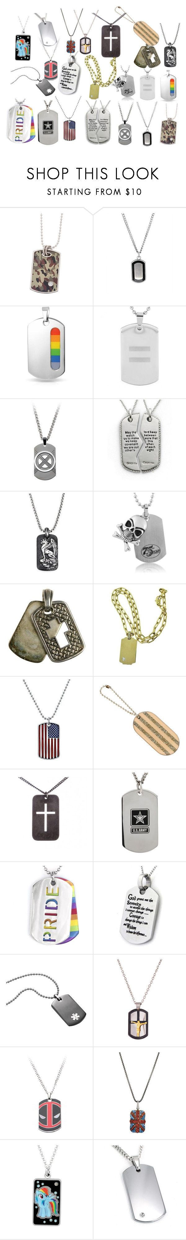 """Dog Tags"" by the-killer-of-dreams ❤ liked on Polyvore featuring Bling Jewelry, West Coast Jewelry, David Yurman, Scott Kay, Cartier, 1928, Chanel, Christian Dior, Creed 1913 and Marvel"