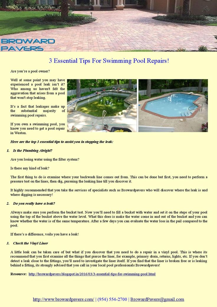 Are you're a pool owner? Well at some point you may have experienced a pool leak isn't it? Who among us haven't felt the aggravation that arises from a pool that won't stop leaking.