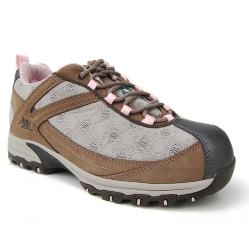 Bobbi Metal Free Women's Athletic Safety Shoe Reg. 99.99-Now 20.00 Metal Free Nu buck leather upper with mesh inserts PK abrasion resistant lining Removable cushioned EVA footbed Lightweight composite toe Flexible composite plate Compression molded EVA midsole External TPU shank ANTI-SLIP and oil resistant rubber outsole CSA approved, Grade 1 Meets or exceeds ASTM 2413-05 requirements METAL FREE Athletic Safety Shoes Sizes 5, 6-11