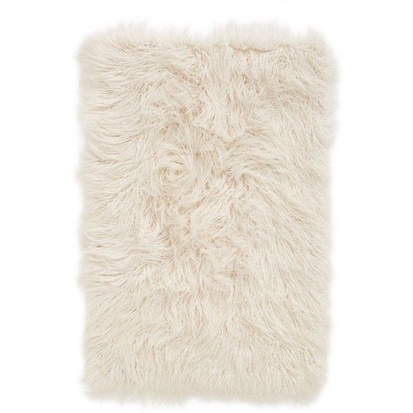 Nordstrom At Home U0027Mongolianu0027 Faux Fur Area Rug ($59) ❤ Liked On