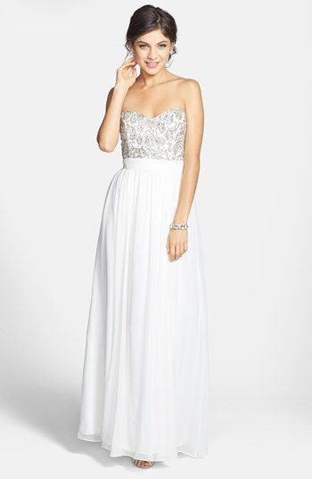 Sean Collection Beaded Bodice Silk Georgette Gown available at #Nordstrom