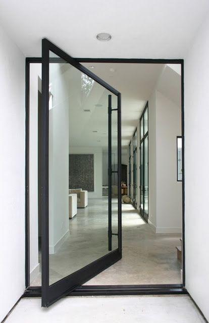 beatifull door with black steel
