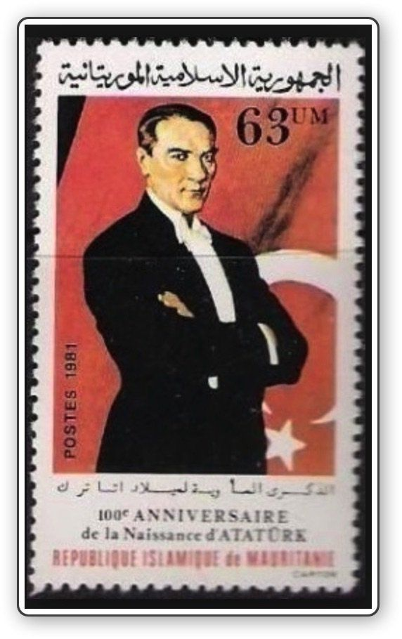 #stamps for 100th birthday of #Atatürk  from Mauritania
