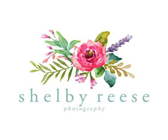 Premade Logo Design - Watercolor Flower Logo - Photography Logo - Boutique Logo - Small Business Logo (16)