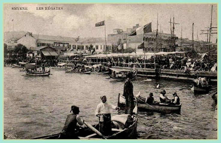 Boating in the Smyrna harbour, 1900