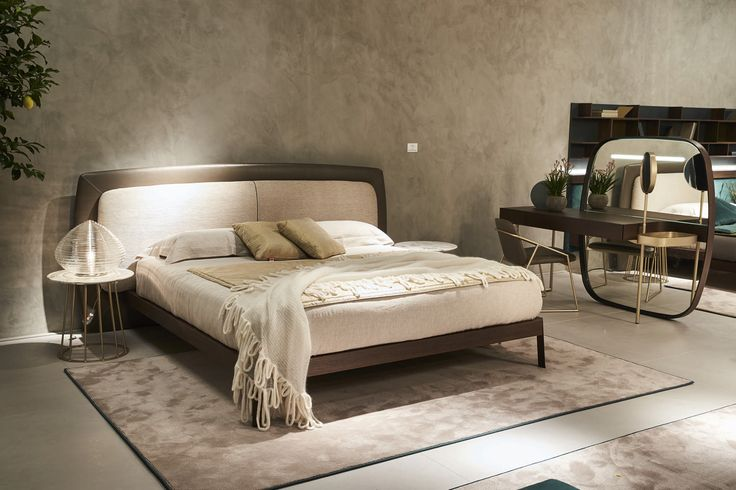 Yugen by Fimes, Salone del Mobile 2017, Milano Sober and elegant style for Yugen bed of Fimes.  #bed #nightstand #bedroom #closet #slidingdoors #leafdoors #interiordesign #design #modern #contemporary #madeinitaly #salonedelmobile #fieradelmobile #isaloni #fieramilano #luxury #glamour #artdeco #fimes #dresser #tvunit #sofa #mirror #silver #gold #leather #glossy  #bookcase #walkingcloset #cornerbed #coplanar #leather #ilsalonedelmobile2017 #milanodesignweek2017 #casadecor2017