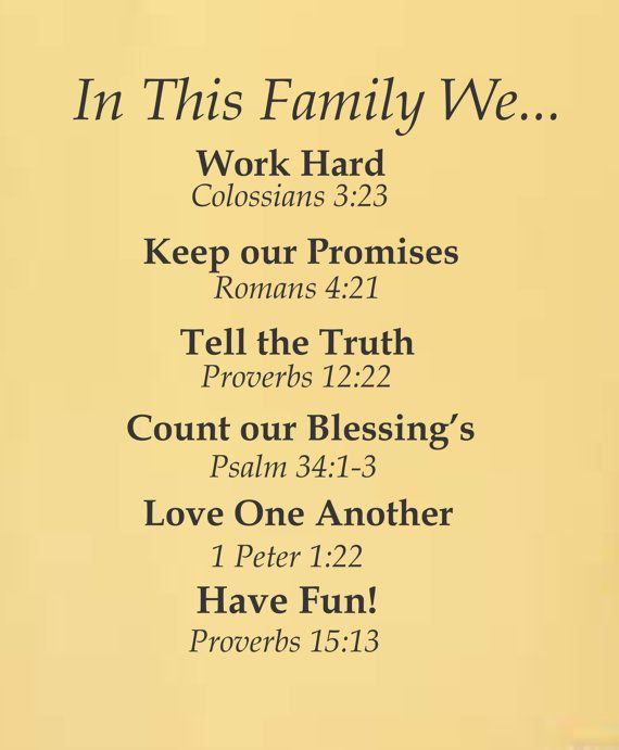For the Home Inspirational In This Family Vinyl by ACDecalDesigns