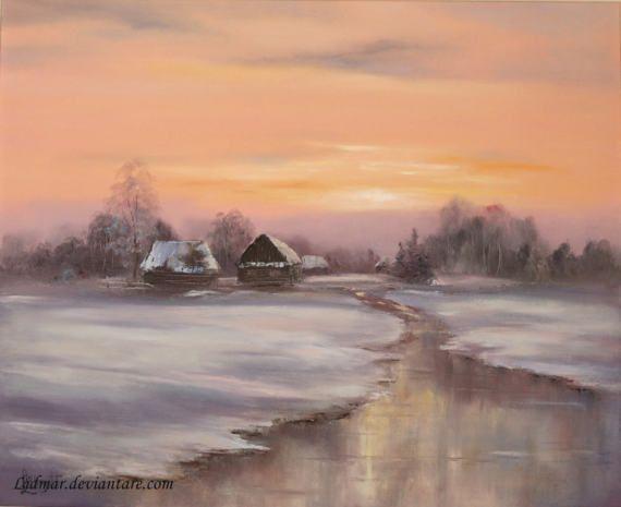 Winter Sundown by Lidia Olbrycht