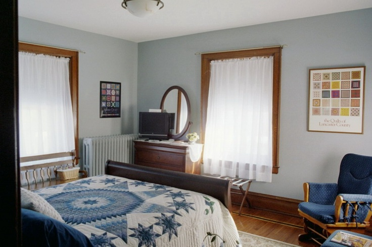 light gray blue goes well with any trim paint colors. Black Bedroom Furniture Sets. Home Design Ideas