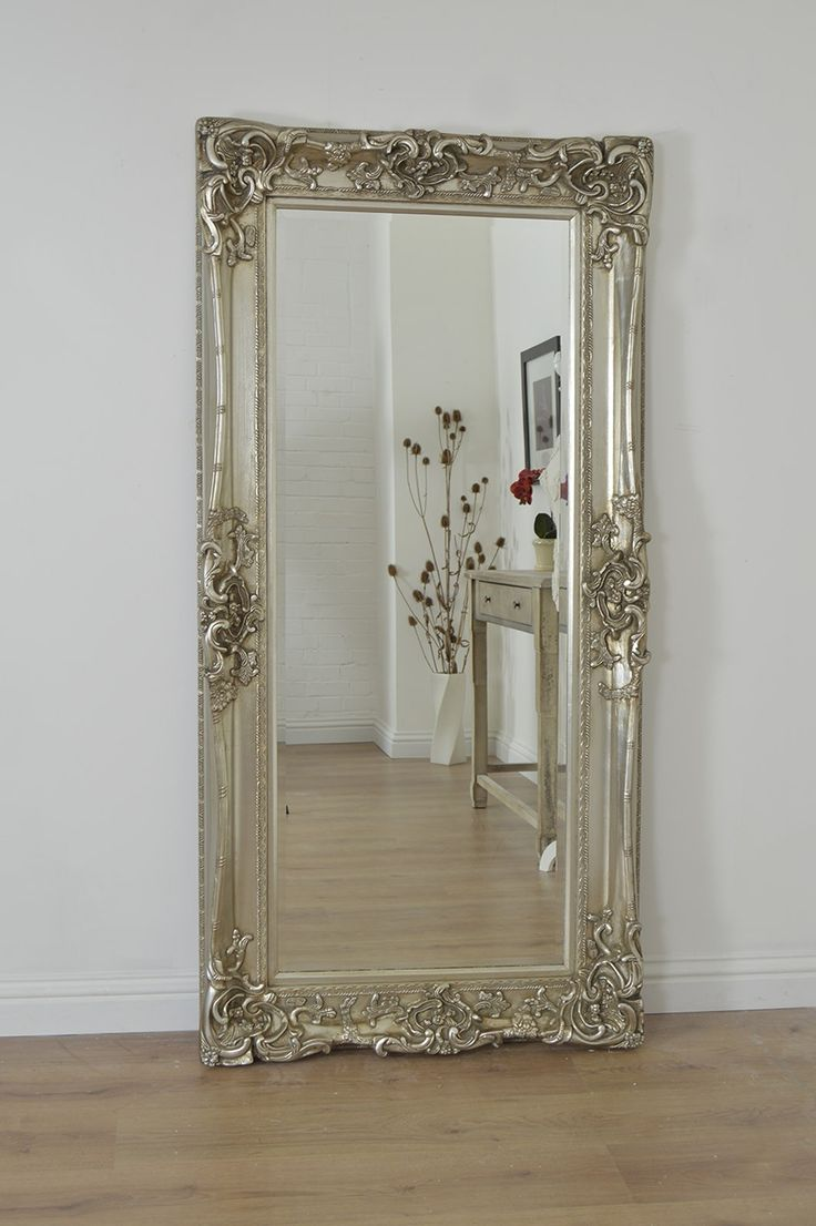 6Ft X 3Ft 183cm X 91cm Large Silver Shabby Chic Design Ornate Wall Mirror  New