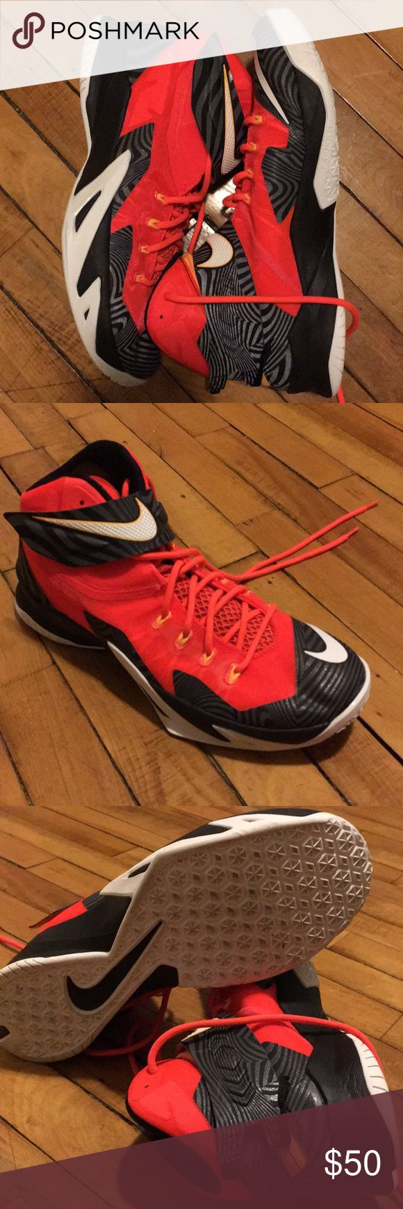 Men's Nike Lebron Soldier 8 Nike Lebron Solider 8's Size 11.5 Great Condition Barely Worn Orange Nike Shoes Athletic Shoes