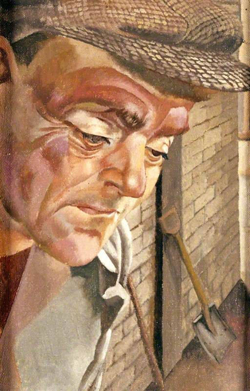 The Furnace Man 1944 by Stanley Spencer (English 1891-1959)