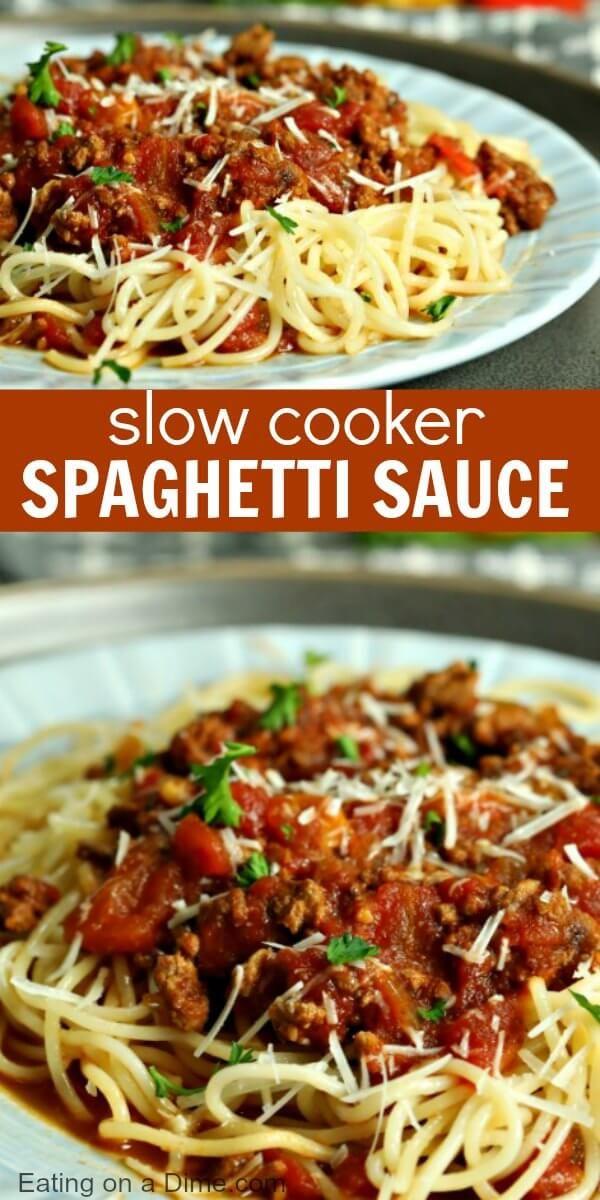 Best Crockpot Spaghetti Sauce