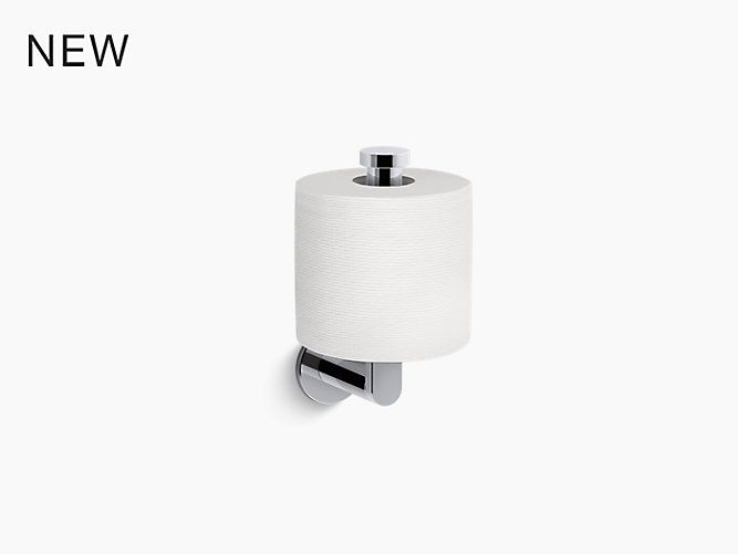 Timeless and deliberate, the Composed collection embodies the beautifully understated elements of minimalist design. The K-73148 toilet tissue holder complements Composed faucets and accessories.