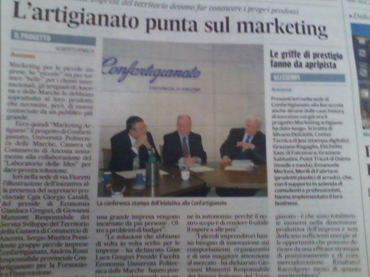 Conferenza stampa di presentazione del progetto Marketing Artigiano, Ancona 27 novembre