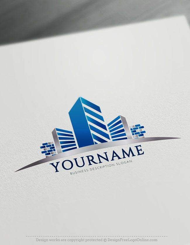 free construction logo maker real estate building logo design