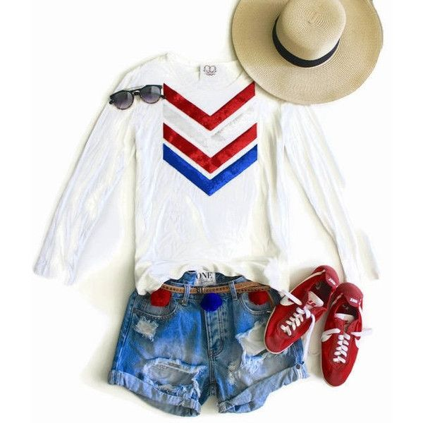 Sequin 4th of July Tees 4th of July Shirt American Flag Chevron Tee T... ($48) ❤ liked on Polyvore featuring tops, t-shirts, black, women's clothing, quarter sleeve shirt, red sequin shirt, t shirt, red checkered shirt and red white blue shirt