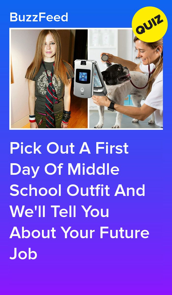 Pick Out A First Day Of Middle School Outfit And We'll Tell You