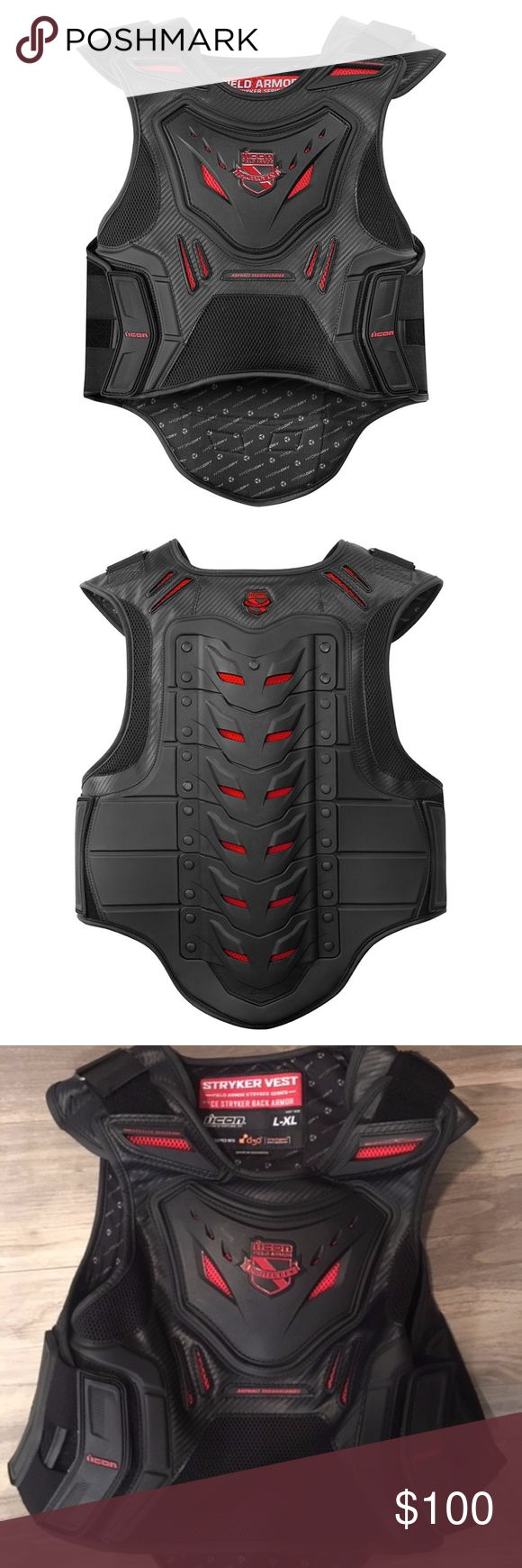 ICON Stryker motorcycle vest Motorcycle vest, How to