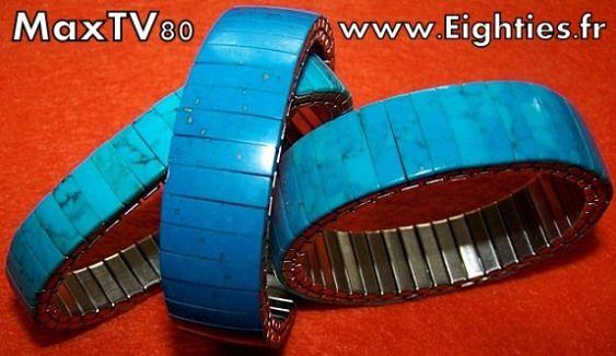 Années 80 les bracelets en turquoises 80's