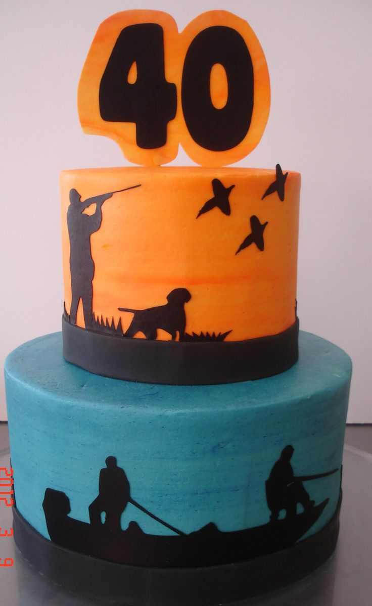 Hunting & fishing silhouettes | St. Louis Custom Cakes