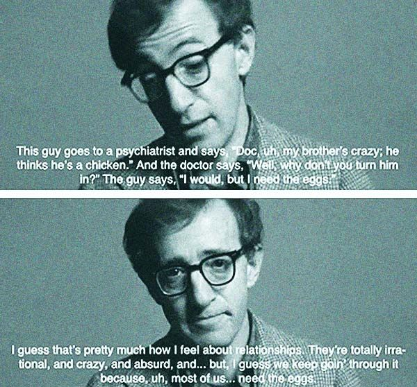 Quotes About Love: The Best Woody Allen Quotes!