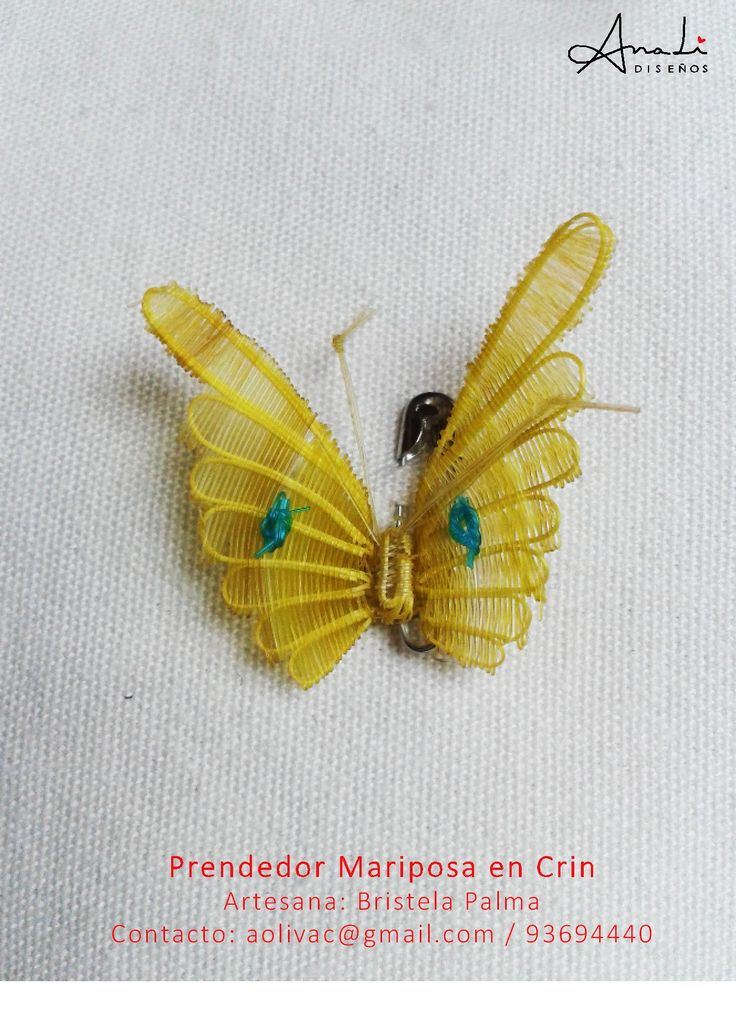 Prendedor Mariposa en Crin:: Contacto aolivac@gmail.com / 93694440