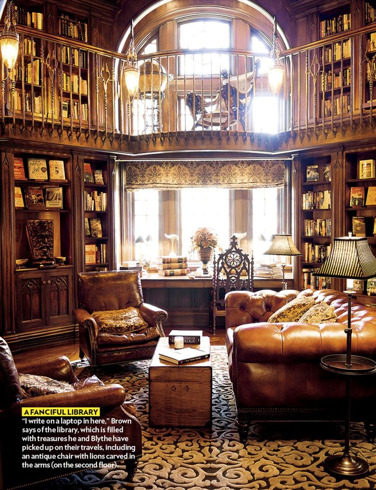 cozy home library | Cozy library. Wow. | You Had Me at...Home (Furniture Designs Reading Nooks)